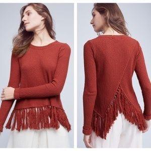 Eri + Ali Tassled Malla Pullover Rust